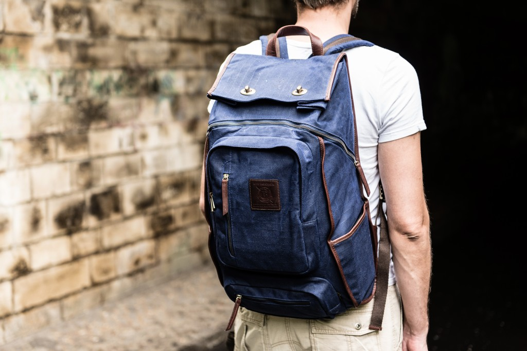 waxed canvas backpack good for camping and trekking
