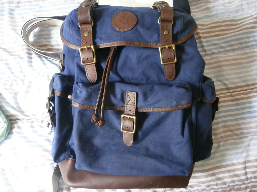 My Builford Classic Backpack looking lovely after its long day.