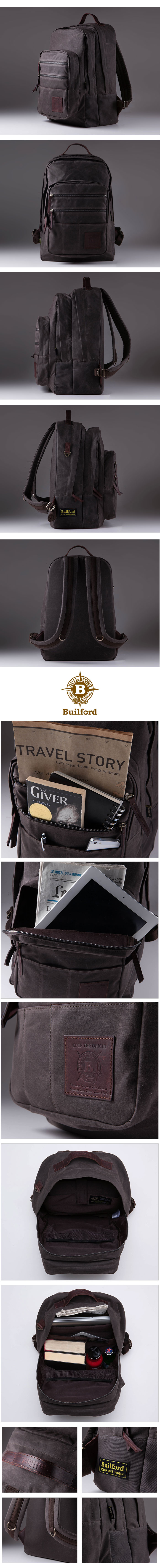 Builford discovery rucksac chcolate